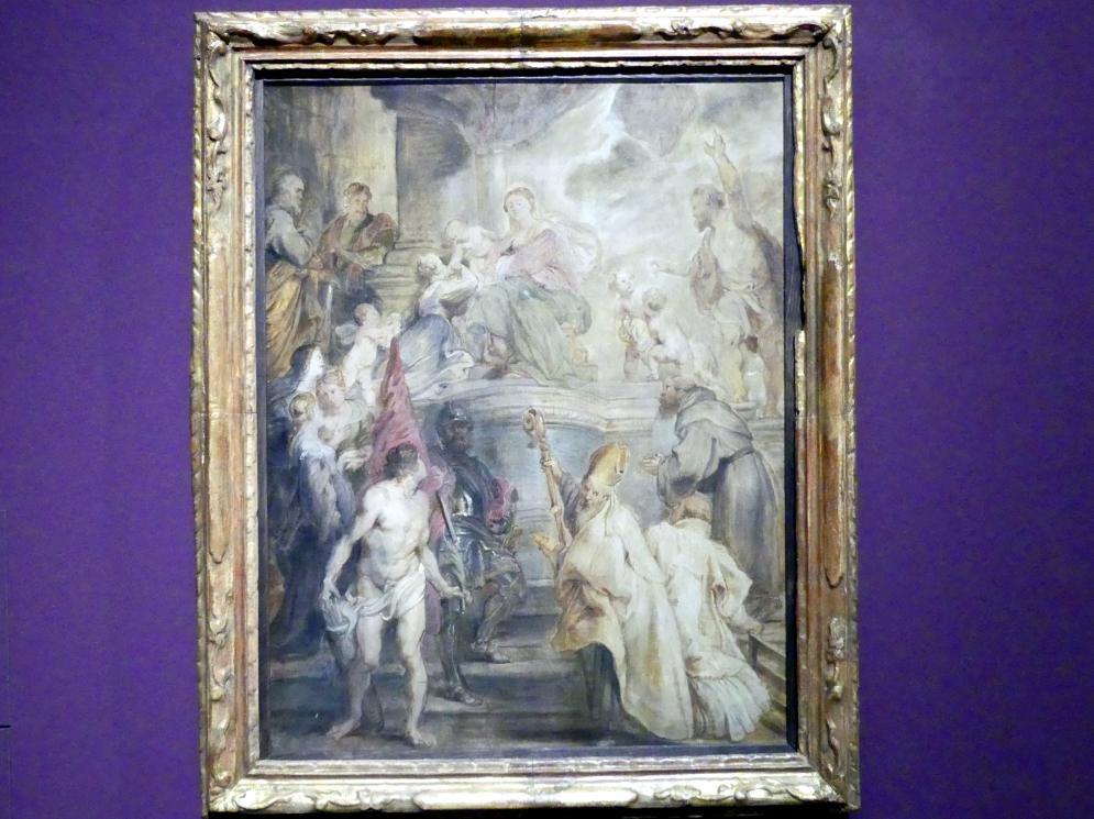 Peter Paul Rubens: Mystische Vermählung der heiligen Katharina, 1627 - 1628