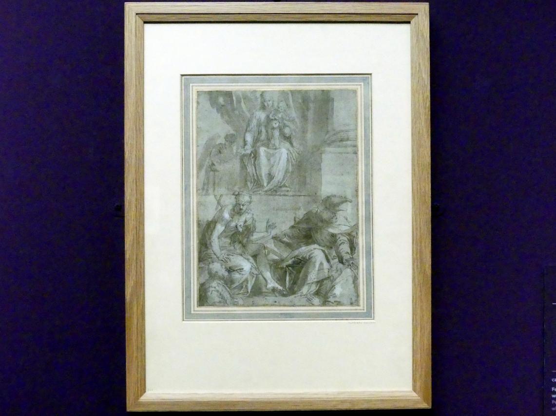 Paolo Caliari (Veronese): Madonna und Kind mit Johannes dem Täufer, dem heiligen Ludwig von Toulouse und zwei Stiftern, Um 1546 - 1548