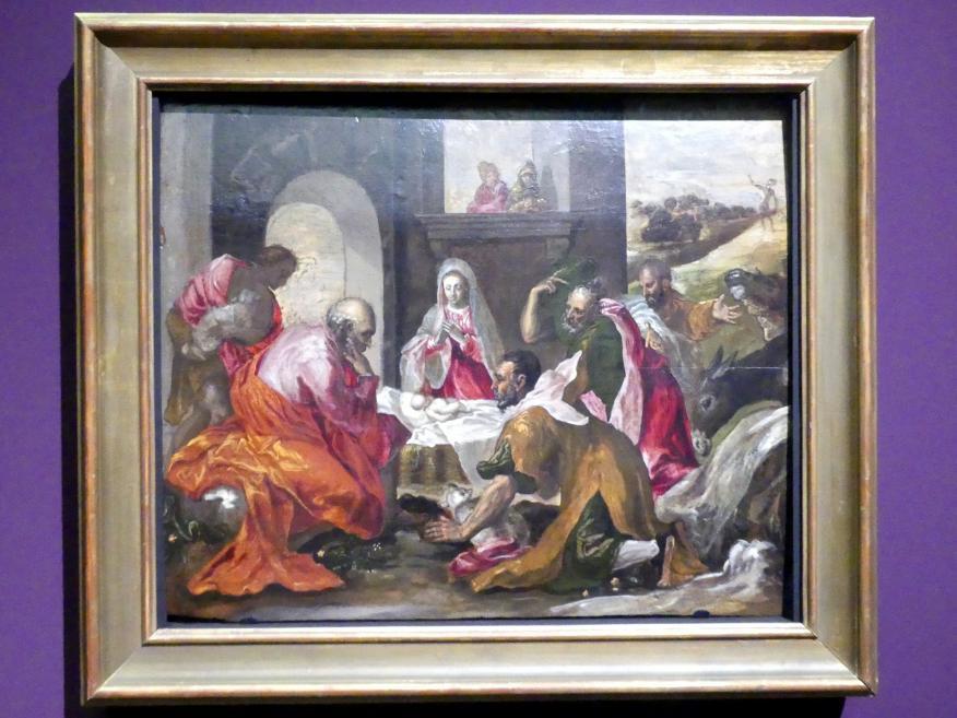 El Greco (Domínikos Theotokópoulos): Anbetung der Hirten, Um 1569