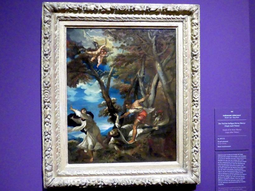Théodore Géricault: Der Tod des heiligen Petrus Martyr (Kopie nach Tizian), um 1811 - 1812