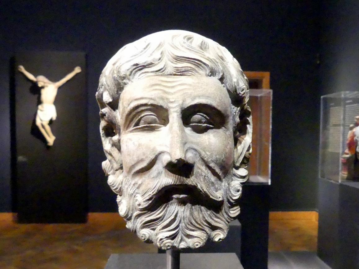 Kopf eines Geistlichen, Um 1300