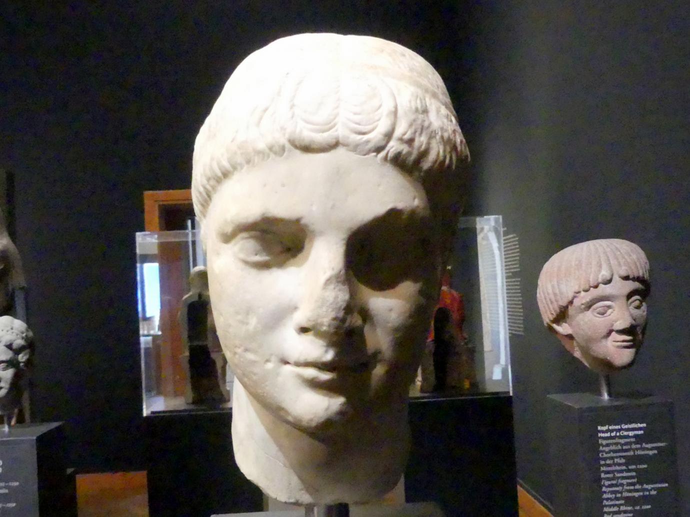 Porträtkopf eines Mannes, Um 1225 - 1250