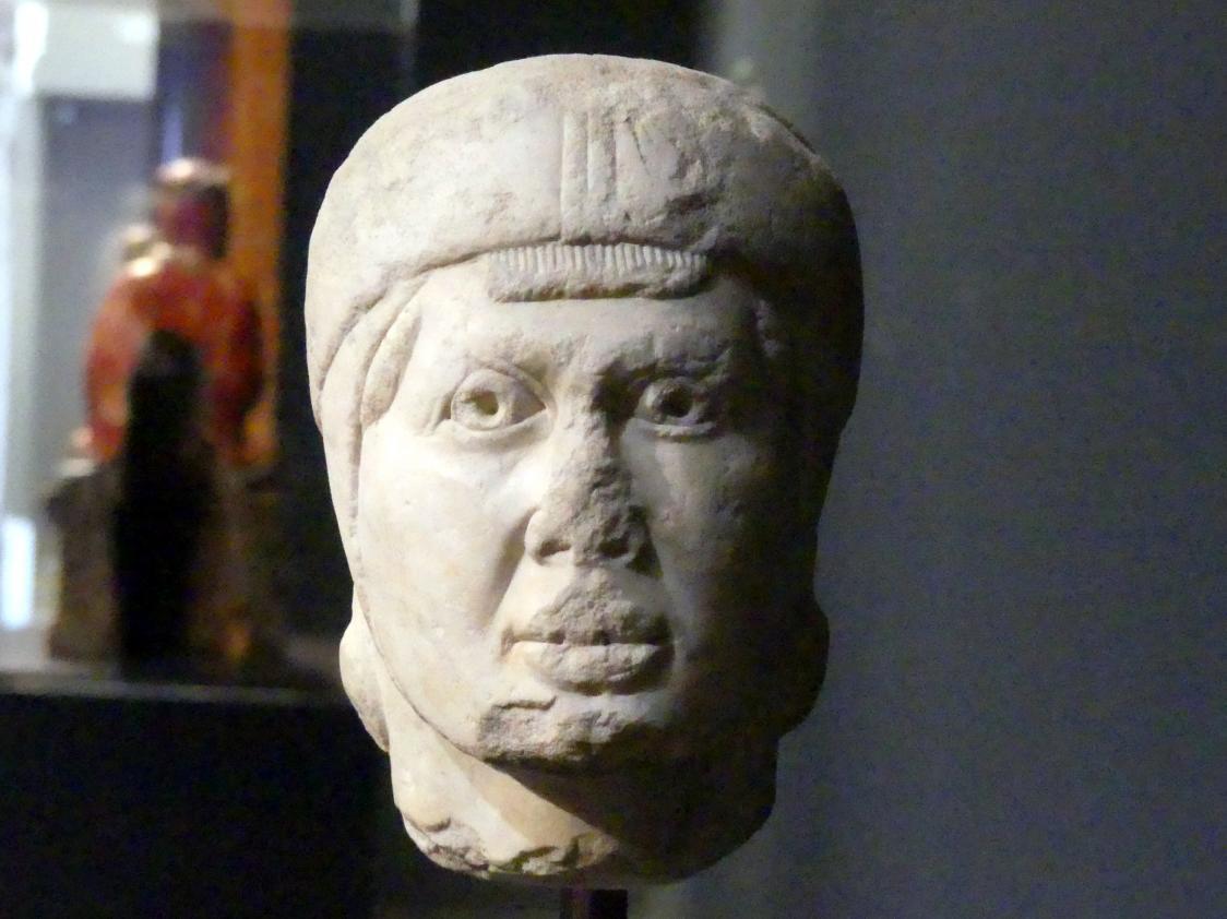 Kopf eines jungen Mannes mit Haube, Um 1250
