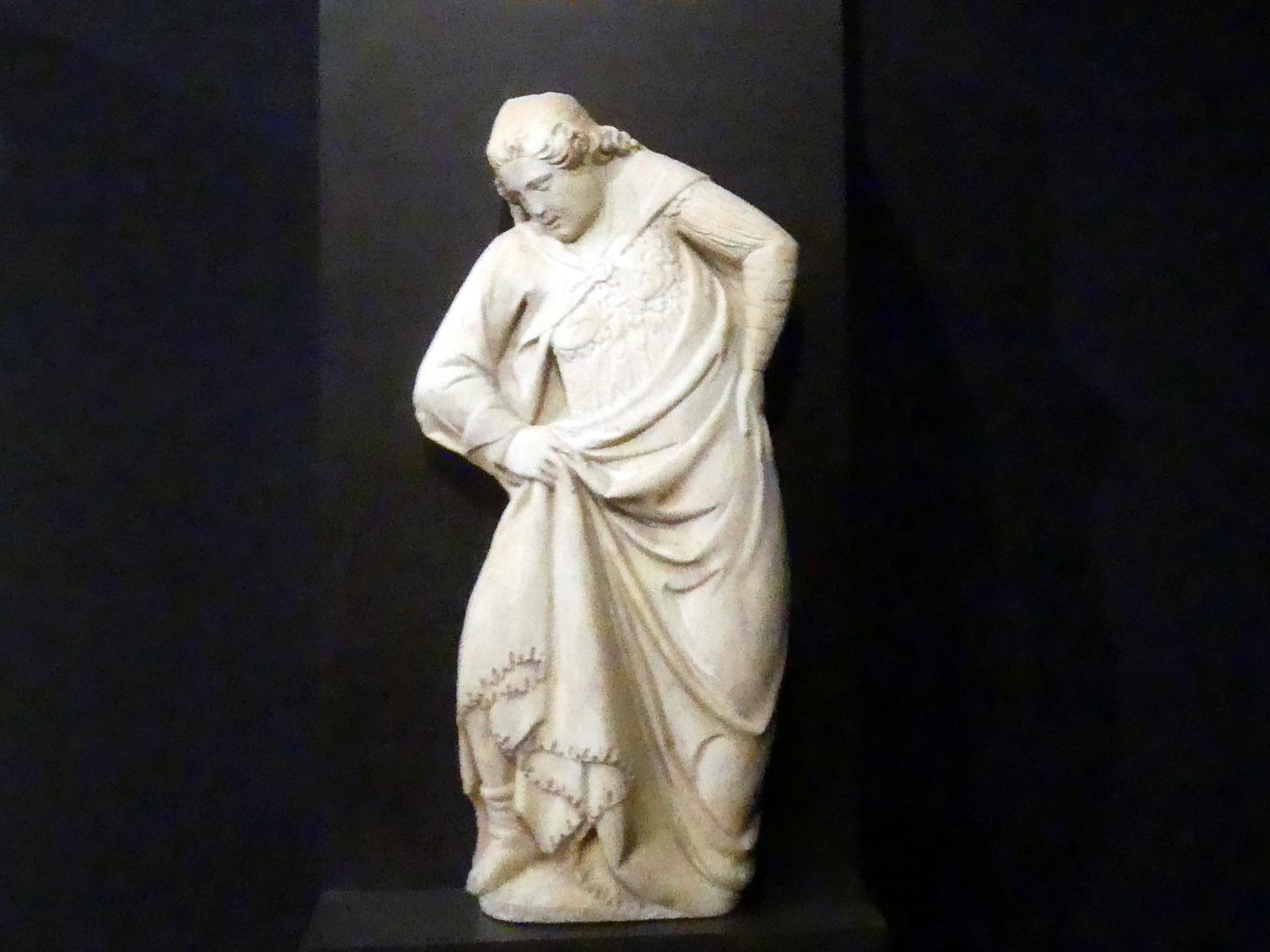 Tino di Camaino: Engel mit kniendem Bischof, Um 1318 - 1319