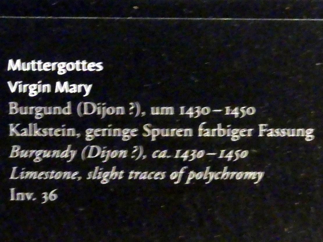 Muttergottes, um 1430 - 1450, Bild 2/2