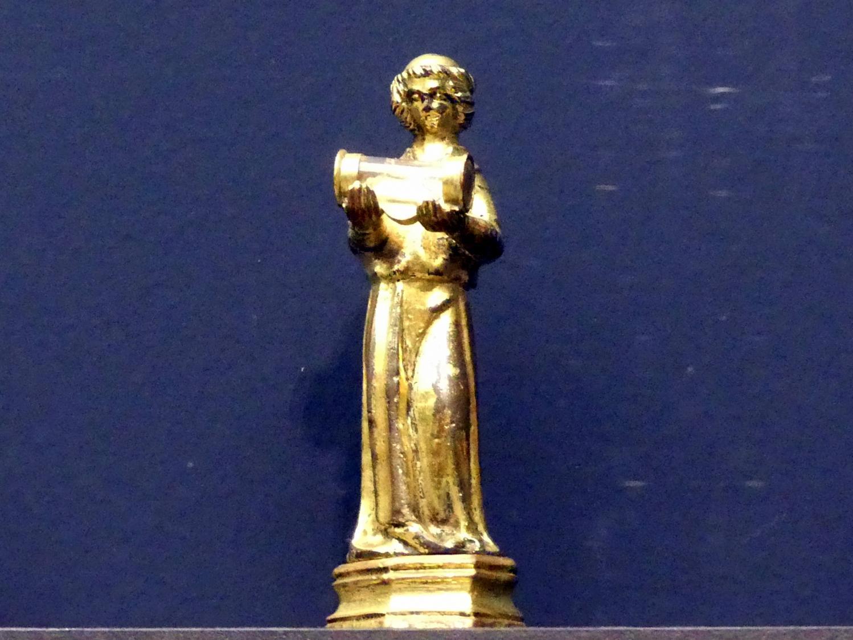 Diakon mit gläsernem Reliquiengefäß, Um 1250 - 1275