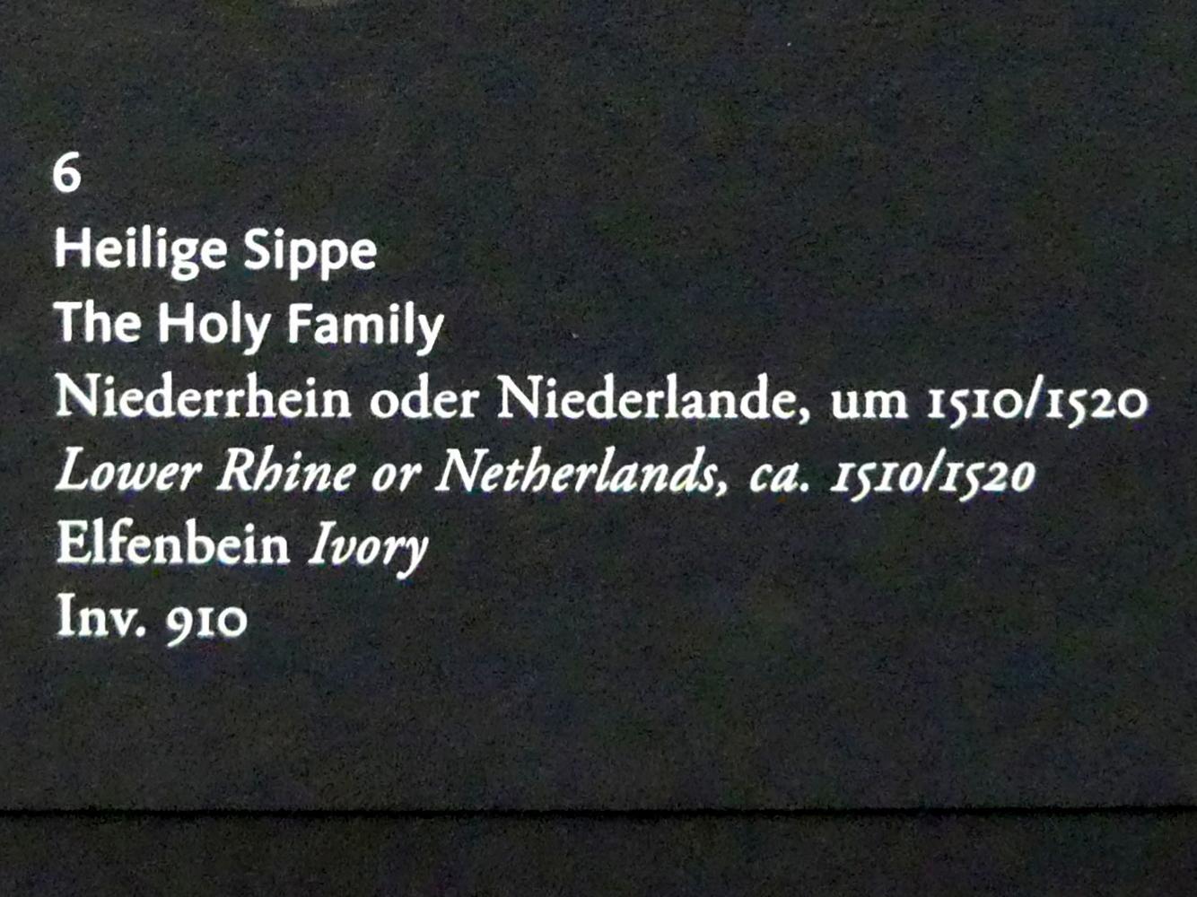 Heilige Sippe, Um 1510 - 1520