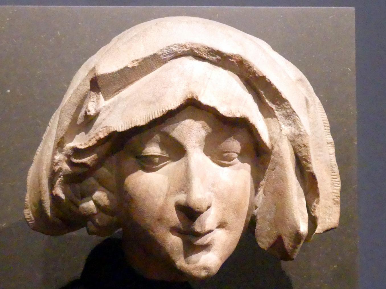 Nicolaus Gerhaert van Leyden: Kopf einer Sibylle, sog. Bärbel von Ottenheim, 1463 - 1464