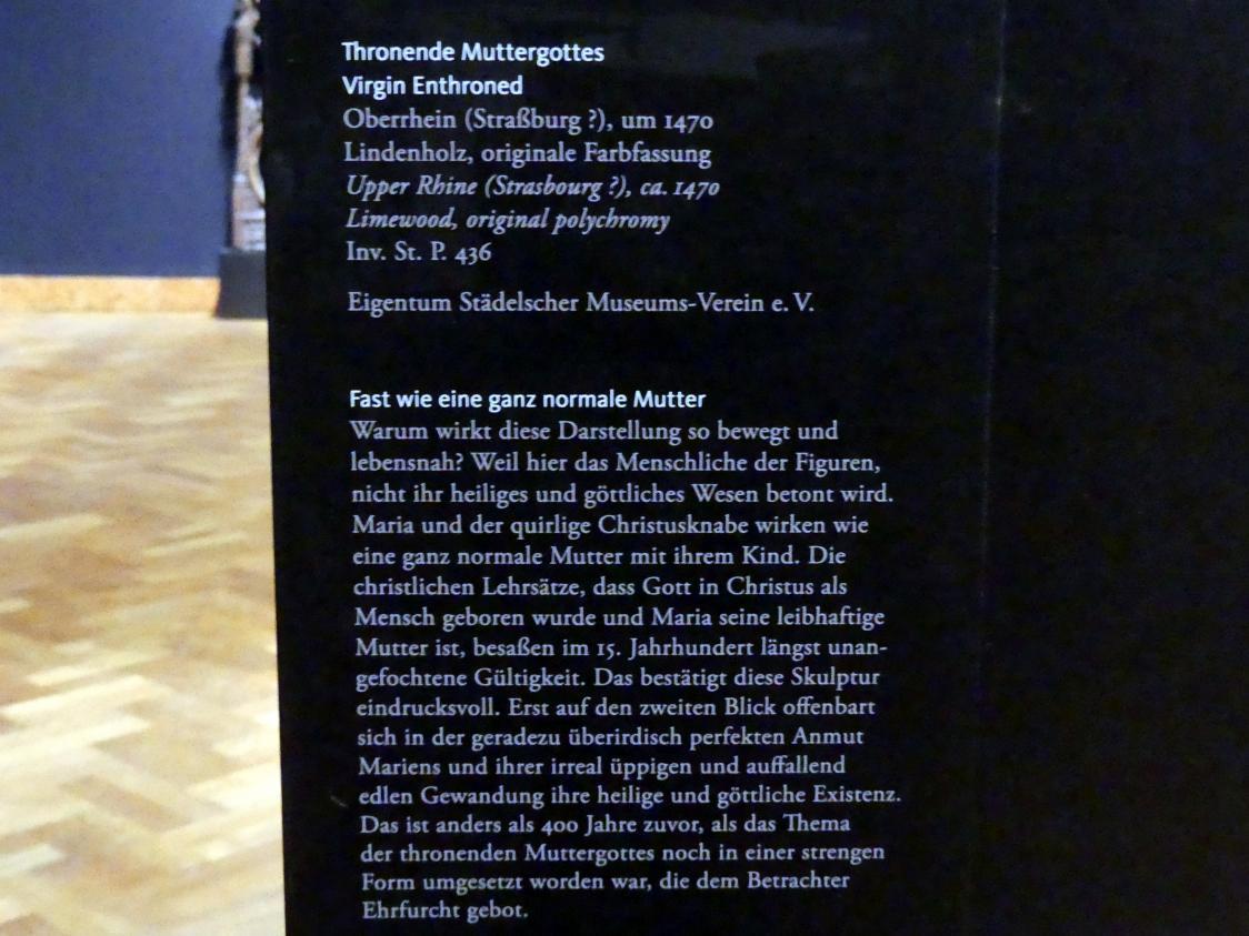 Thronende Muttergottes, um 1470, Bild 2/2