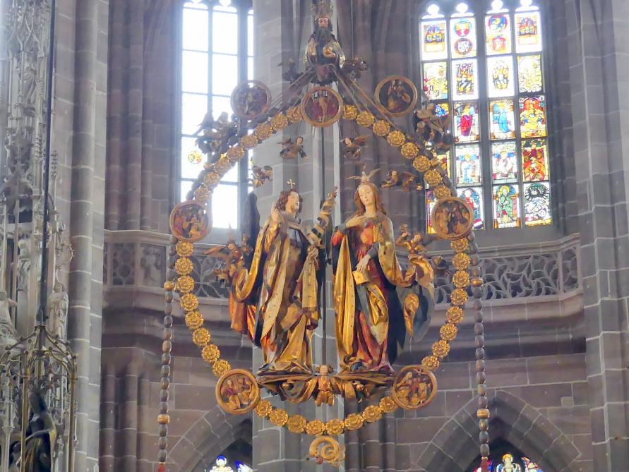 Veit Stoß: Engelsgruß im Rosenkranz, 1517 - 1518