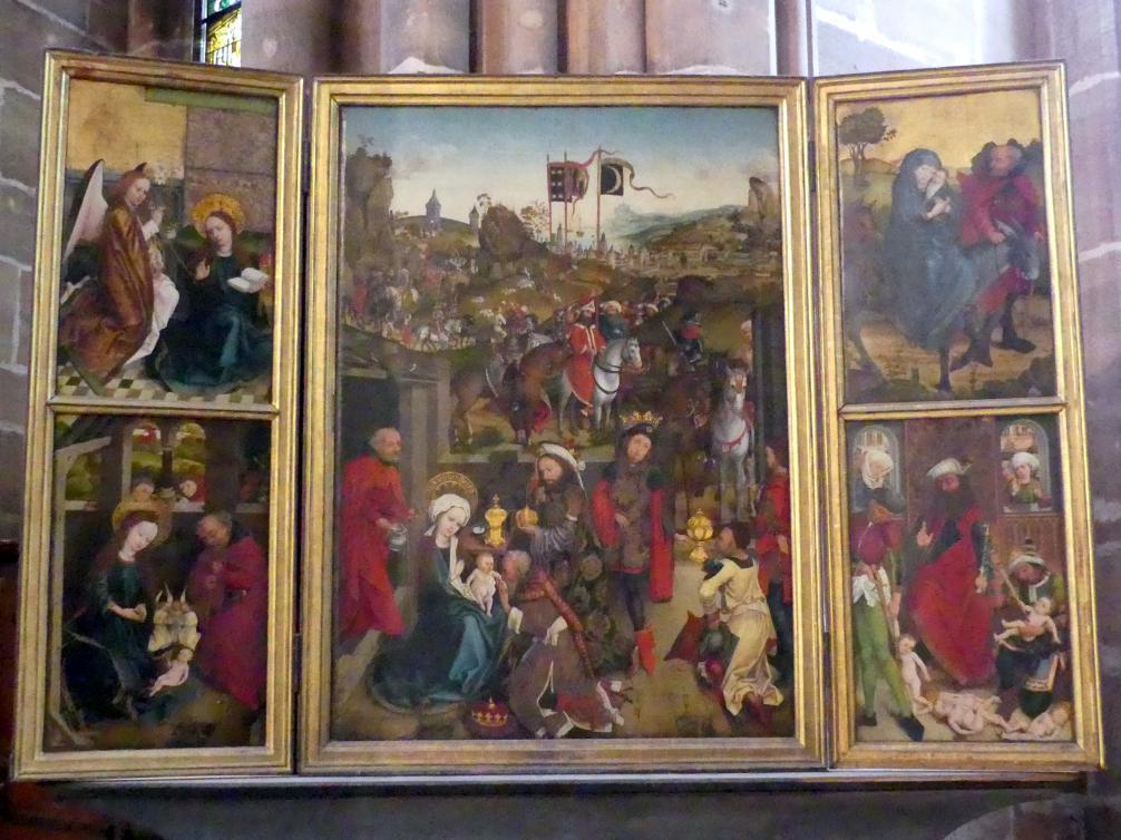 Hans Pleydenwurff: Dreikönigsaltar, Um 1460