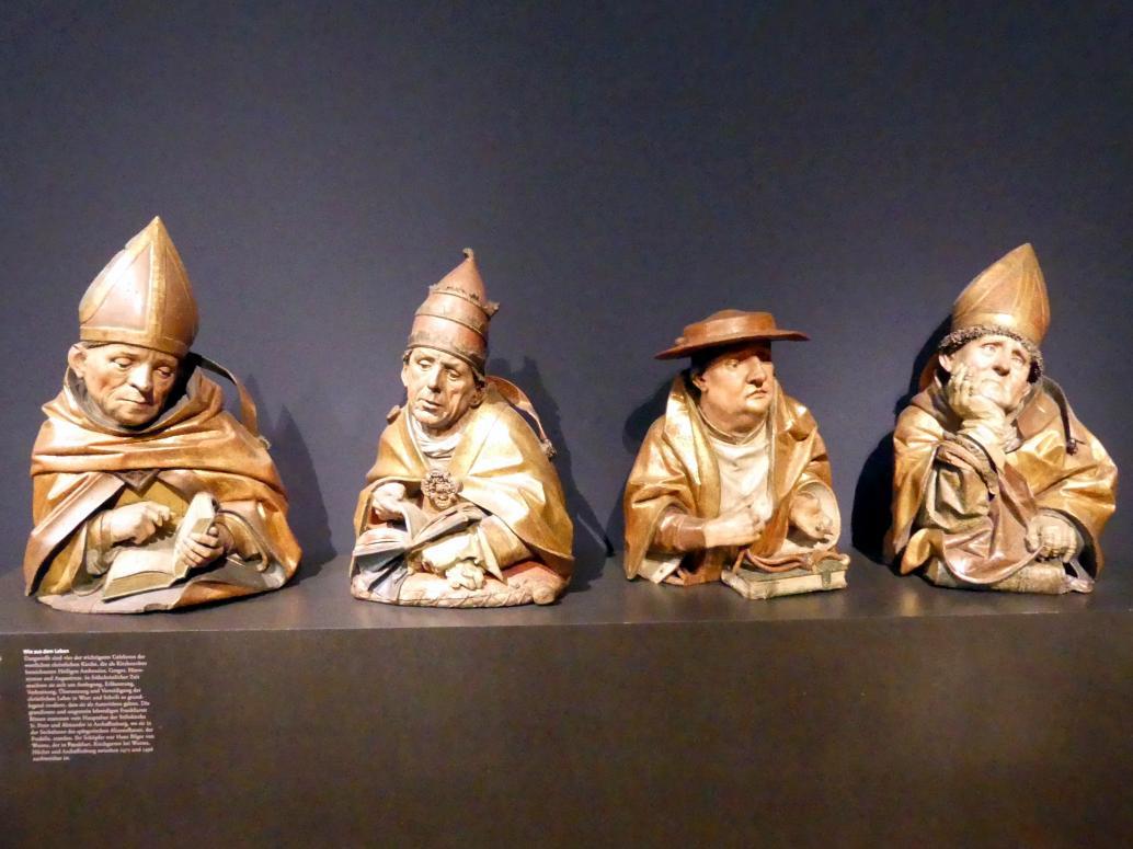 Hans Bilger: Büsten der vier Kirchenväter, 1489 - 1496