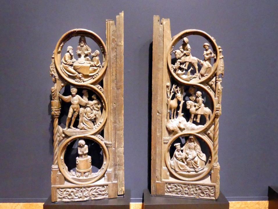 Zwei Seitenwangen eines Chorgestühls, Um 1520