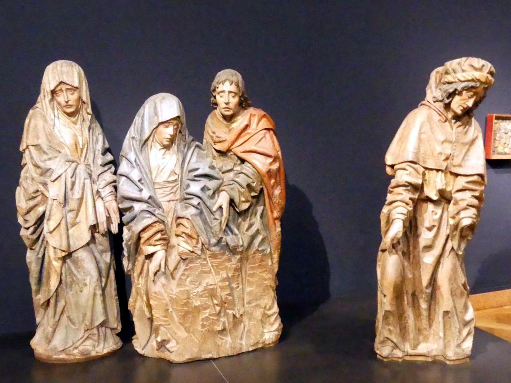Figuren einer Beweinungsgruppe, um 1500
