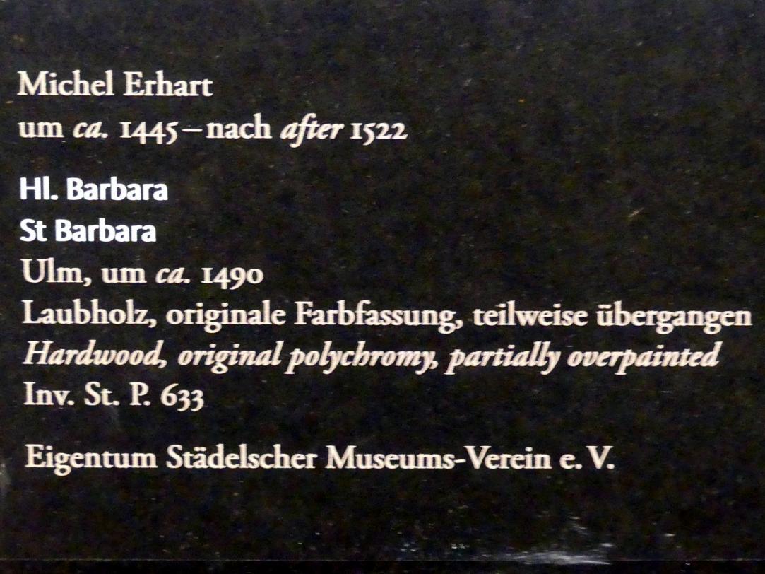 Michel Erhart: Hl. Barbara, Um 1490