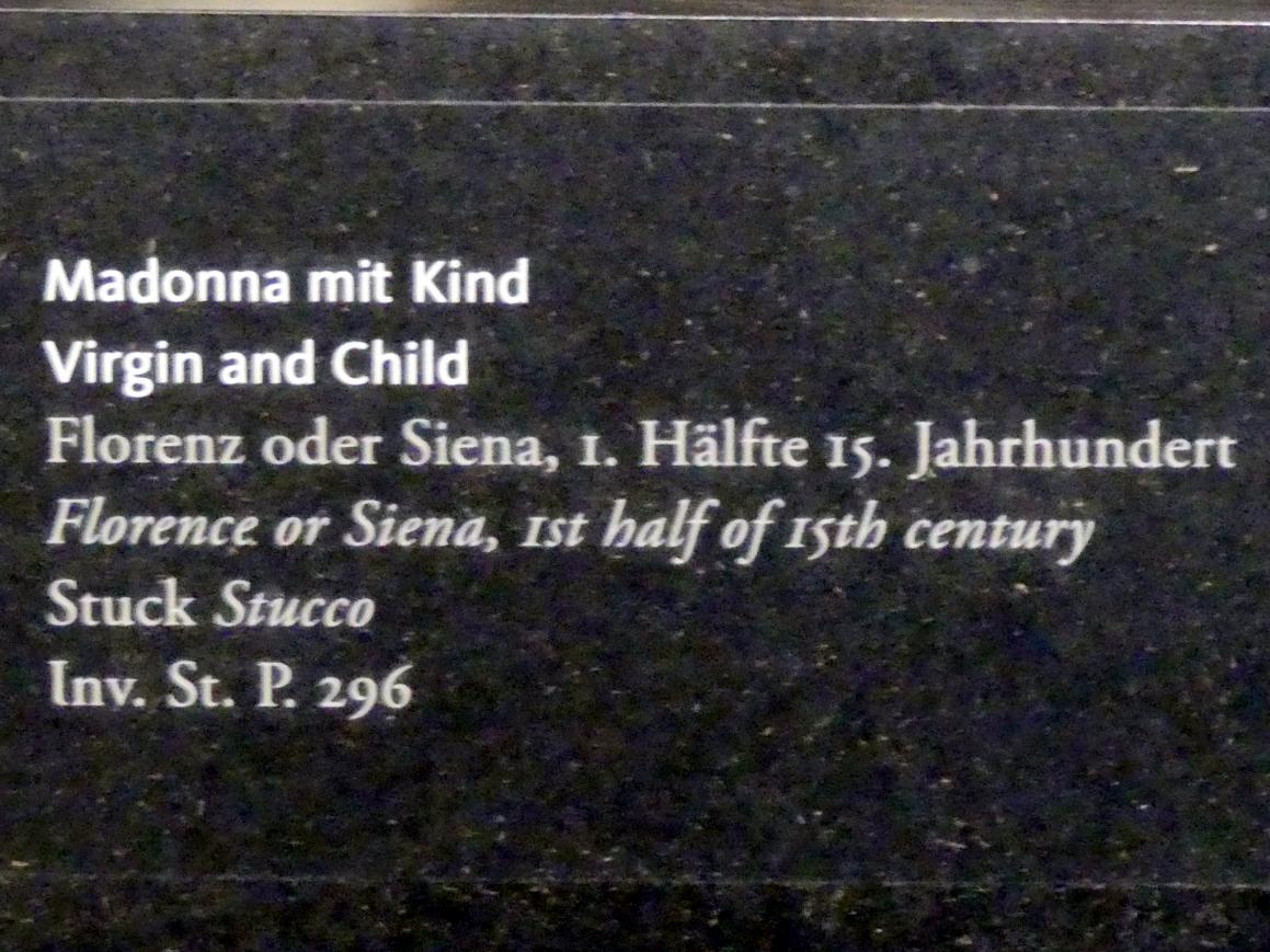 Madonna mit Kind, 1. Hälfte 15. Jhd., Bild 2/2