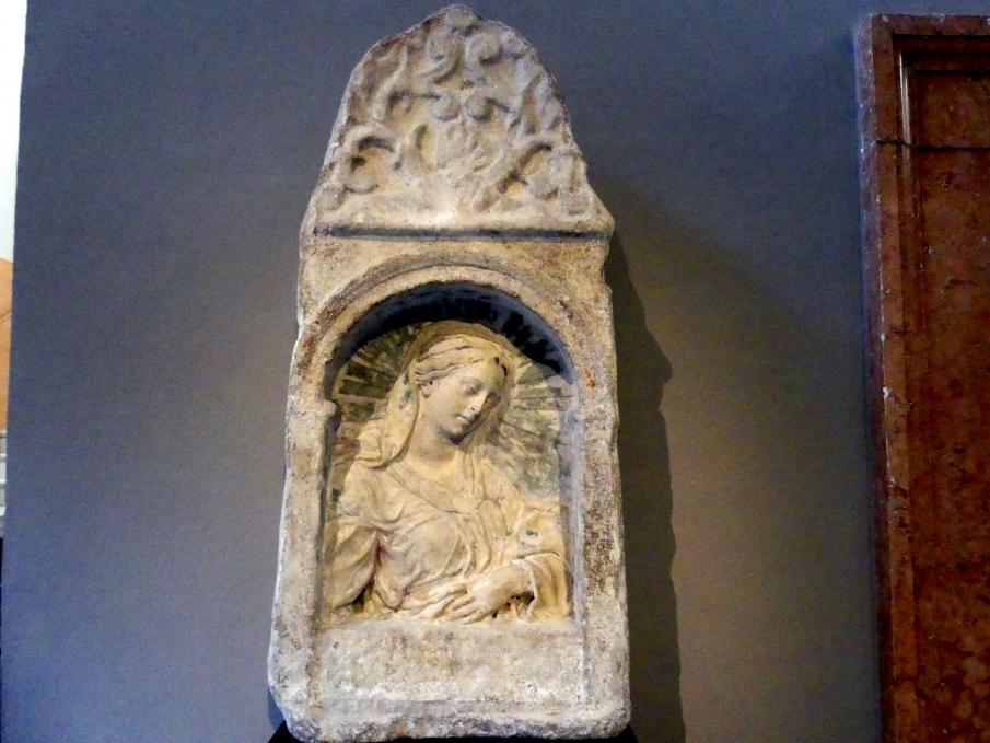Antike Stele mit Madonna, 17. Jhd.