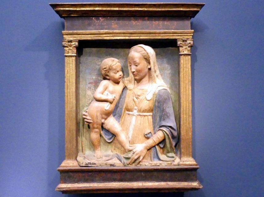 Antonio Rossellino: Muttergottes mit Kind, um 1475 - 1500