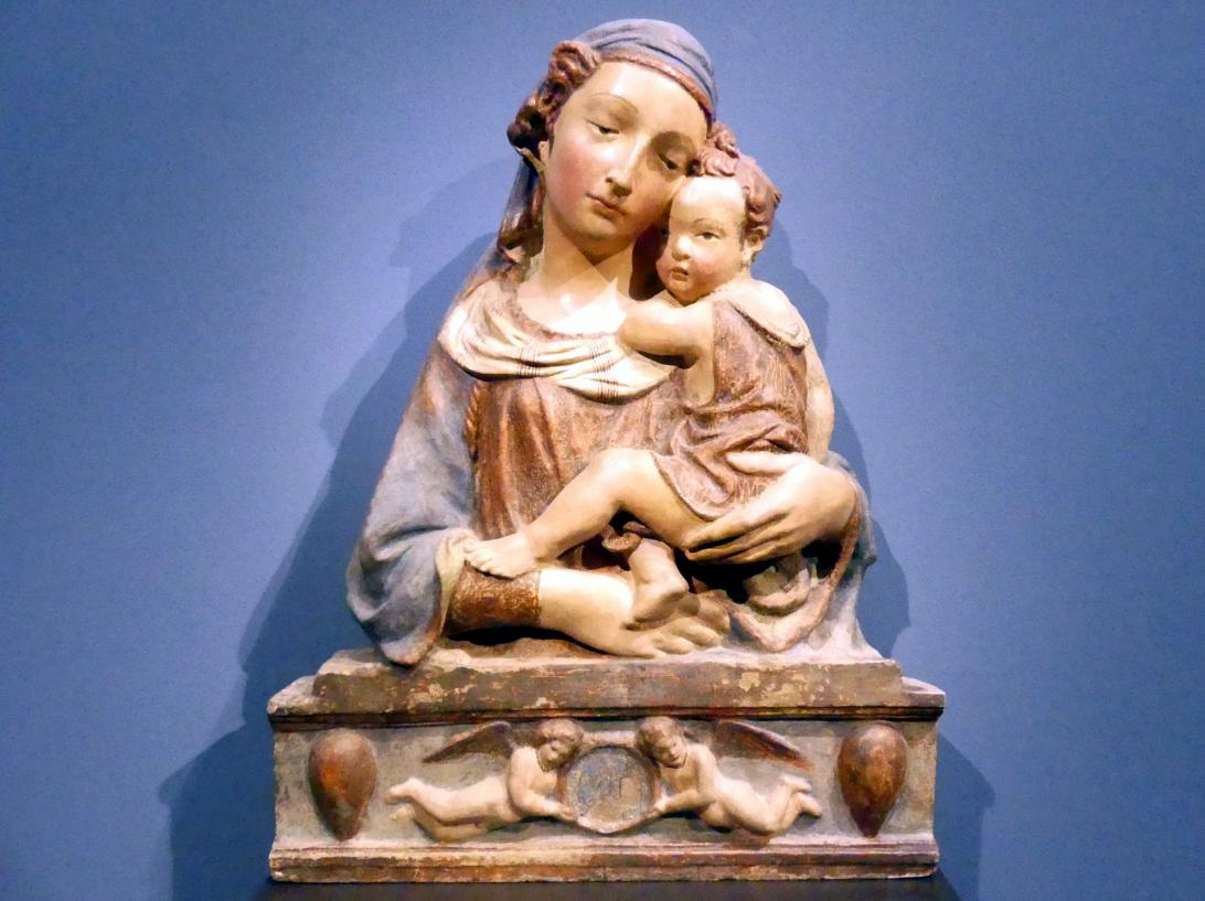 Lorenzo Ghiberti (Nachfolger): Madonna mit Kind, 1. Hälfte 14. Jhd.