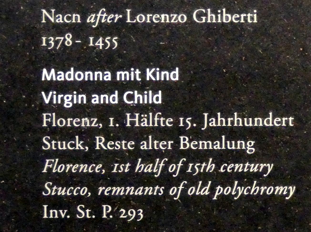 Lorenzo Ghiberti (Nachfolger): Madonna mit Kind, 1. Hälfte 14. Jhd., Bild 2/2