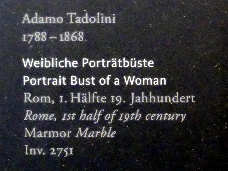Adamo Tadolini: Weibliche Portraitbüste, 1. Hälfte 19. Jhd., Bild 2/2