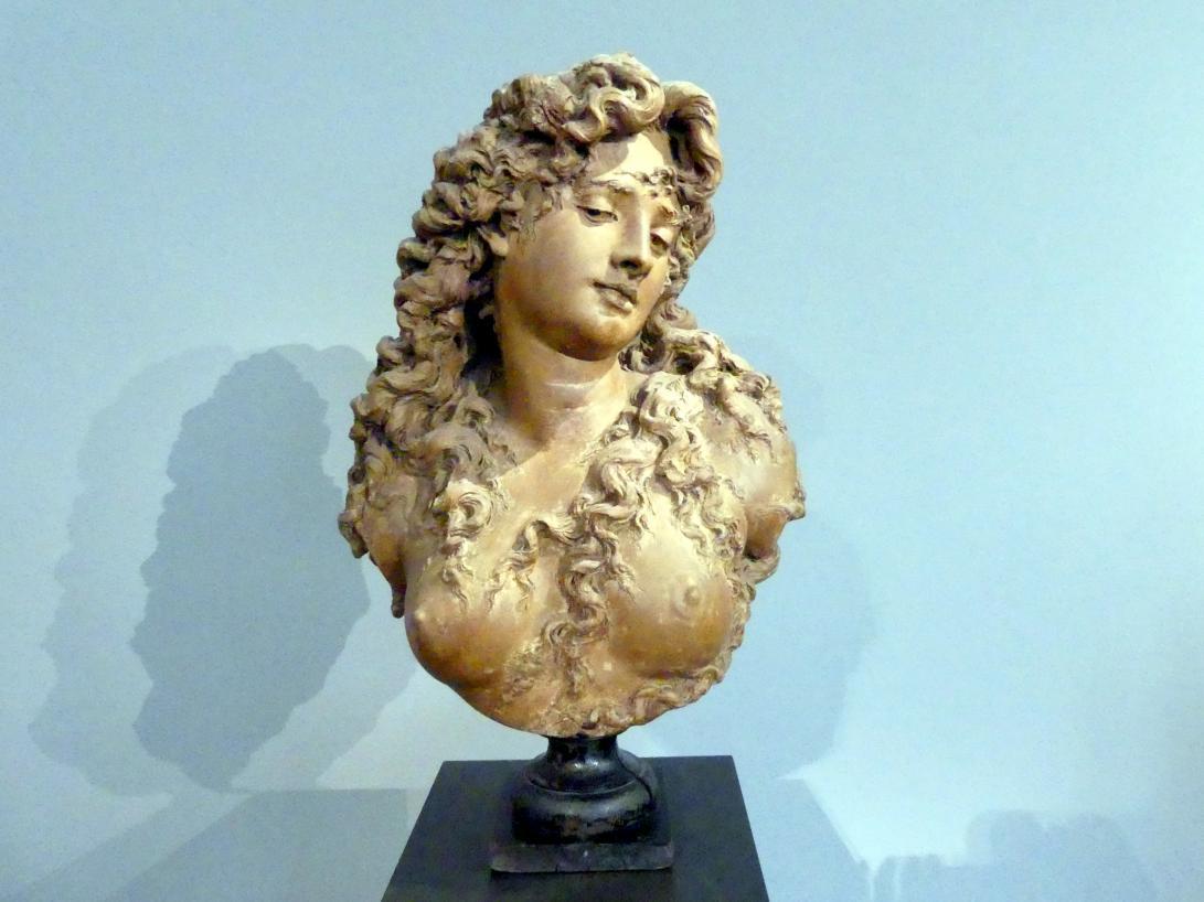 Albert-Ernest Carrier-Belleuse: Büste einer jungen Frau, Um 1874
