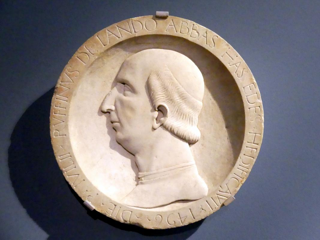 Giovanni Antonio Amadeo: Tondo mit dem Bildnis des Abtes Ruffinus de Lando, 1496