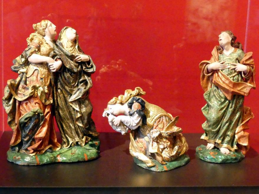 Kreuzigungsgruppe mit den drei Marien und dem Evangelisten Johannes, 2. Hälfte 18. Jhd.