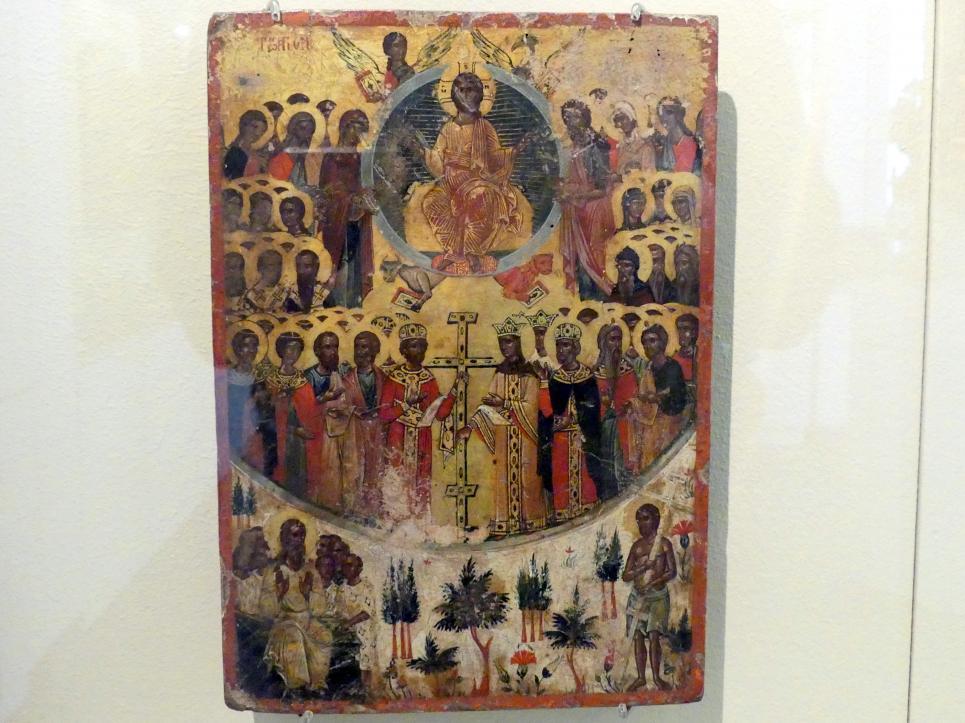 Christus Allherrscher mit Auffindung des Heiligen Kreuzes und Paradies, Um 1800