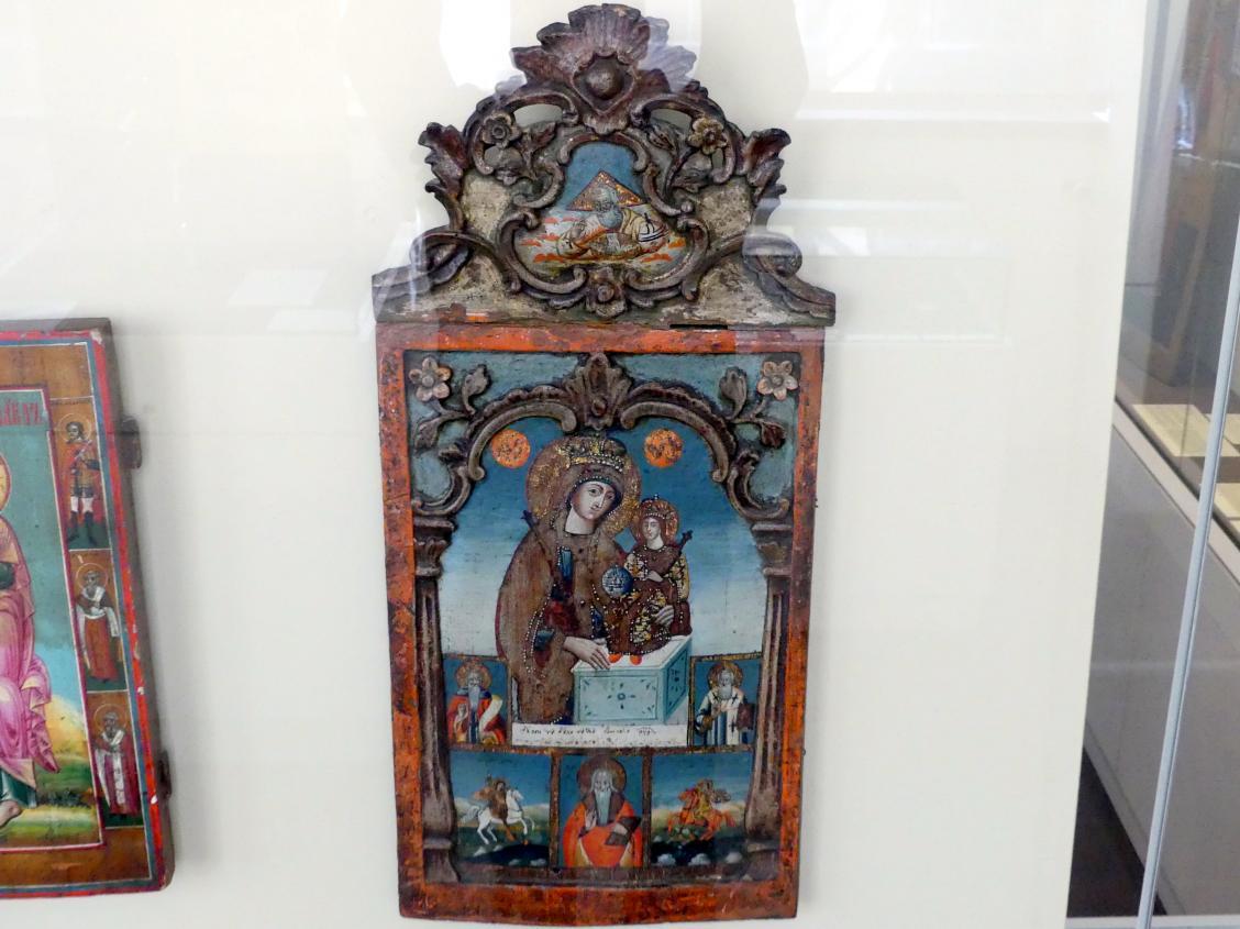 Heilige Gottesmutter nicht verwelkende Blume und Heilige, um 1820