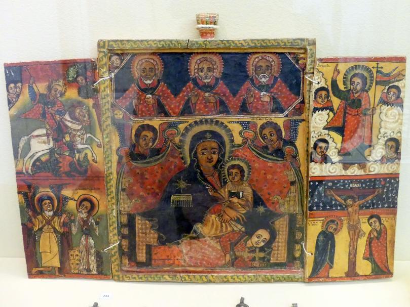 Ikone, Triptychon, 1. Drittel 18. Jhd.