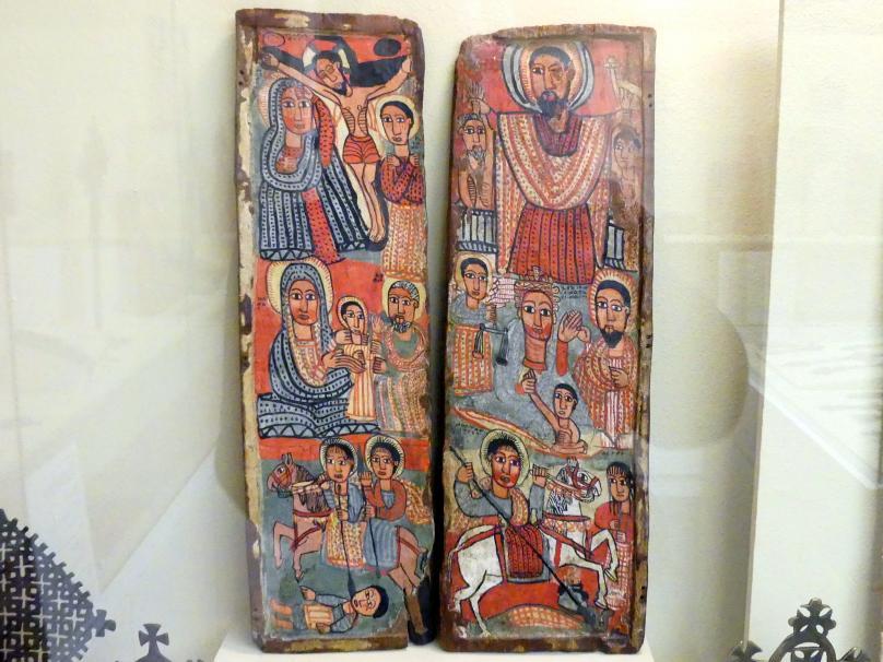 Zwei Seitentafeln eines Triptychons, 17. Jhd.