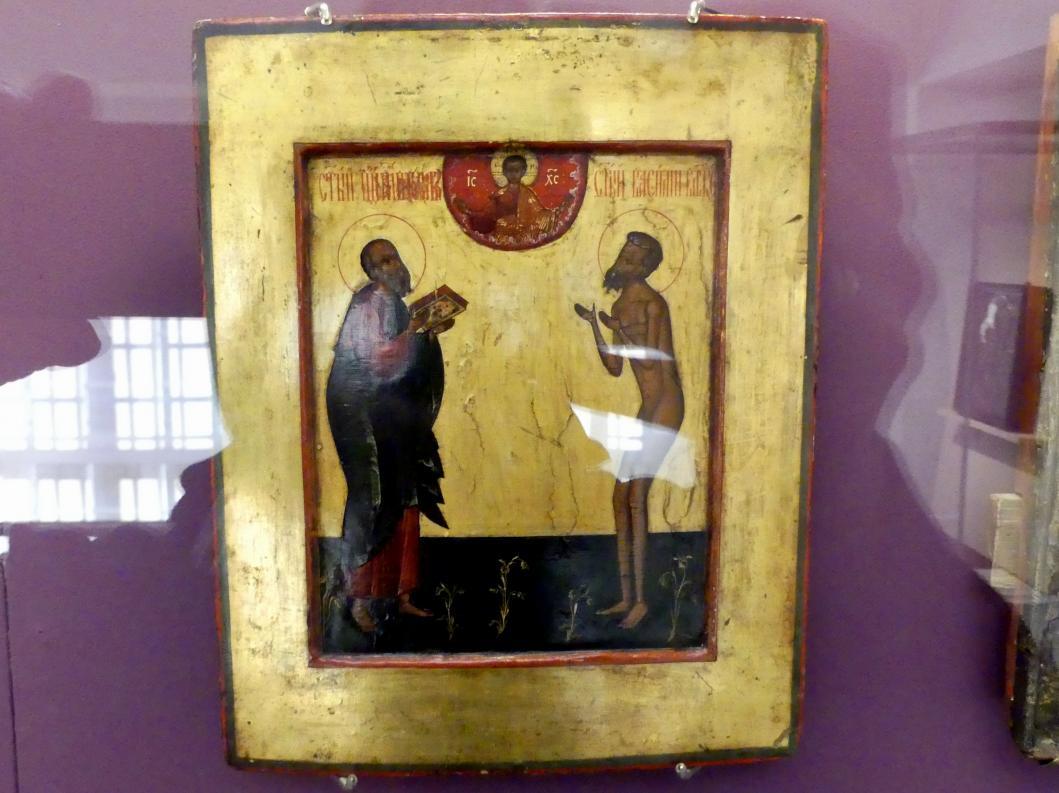 Heiliger Johannes der Theologe und Heiliger Wassilij Narr in Christo, Beginn 17. Jhd.