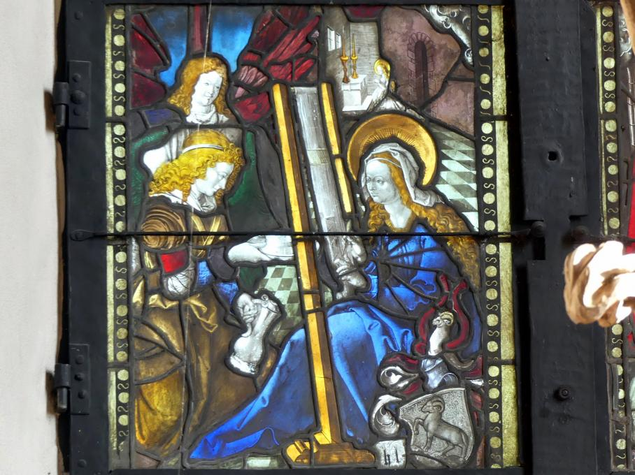 Hans Baldung Grien: Maria am Webstuhl, von Engeln gespeist, Um 1505