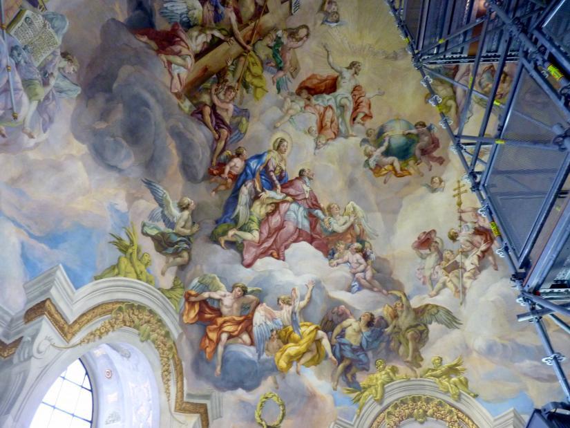 Johann Michael Rottmayr: Kuppelfresko und vier Gewölbefresken der Kreuzarme, 1725 - 1730