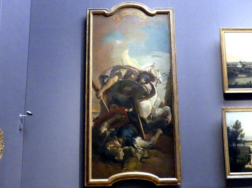 Giovanni Battista Tiepolo: Der Tod des Konsuls L. J. Brutus, 1728 - 1730