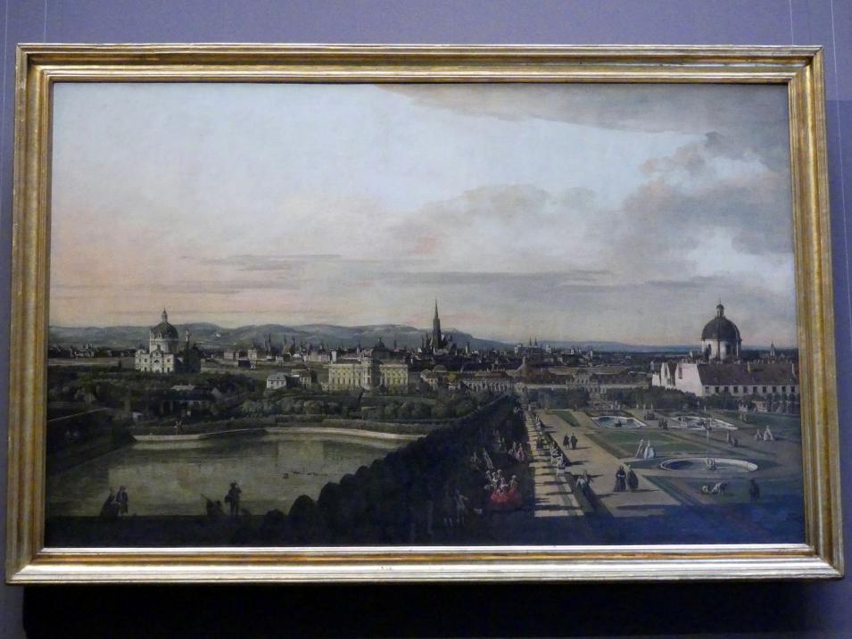 Bernardo Bellotto (Canaletto): Wien, vom Belvedere aus gesehen, 1758 - 1761