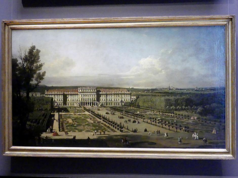 Bernardo Bellotto (Canaletto): Schloss Schönbrunn, Gartenseite, 1758 - 1761