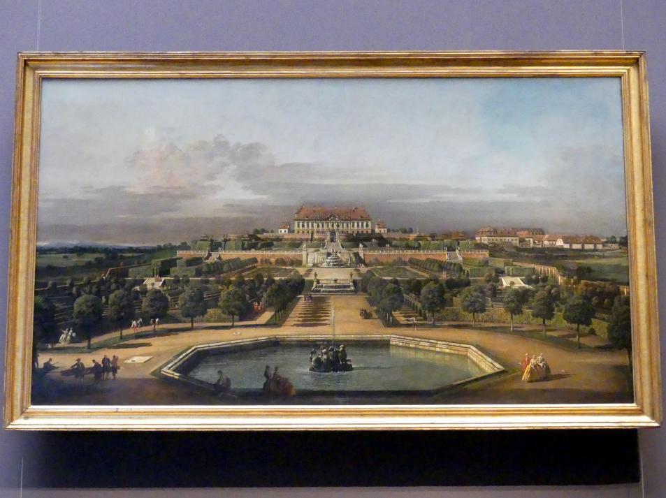 Bernardo Bellotto (Canaletto): Das kaiserliche Schloss Hof, Gartenseite, 1759 - 1761