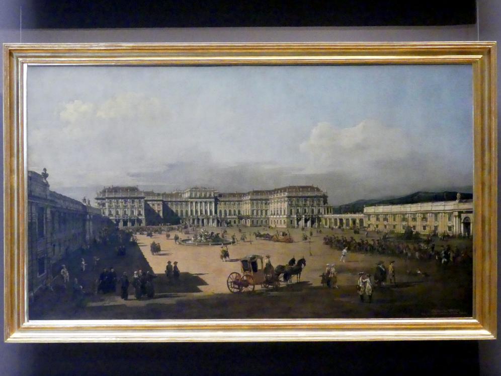 Bernardo Bellotto (Canaletto): Schloss Schönbrunn, Ehrenhofseite, 1759 - 1761
