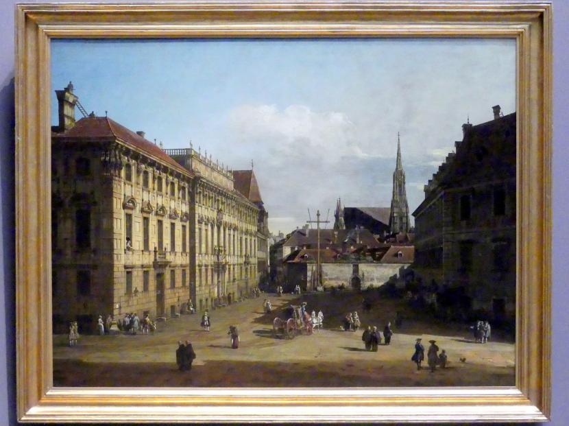 Bernardo Bellotto (Canaletto): Die Freyung in Wien, Ansicht von Nordwesten, 1758 - 1761