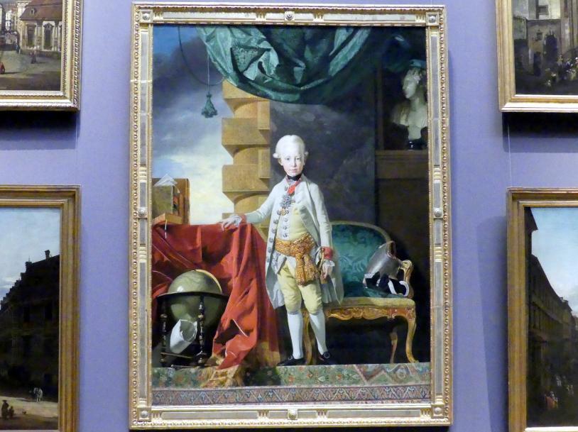Johann Zoffani: Erzherzog Franz Joseph Karl, der spätere Kaiser Franz II./I. (1768-1835), im Alter von sieben Jahren, 1774 - 1775