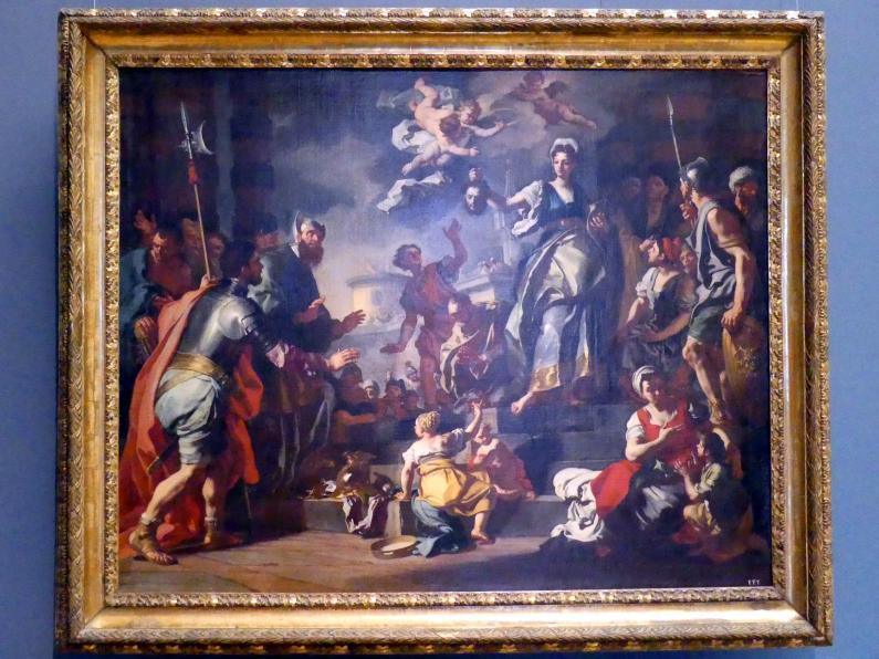 Francesco Solimena: Judith zeigt dem Volk das Haupt des Holofernes, um 1730