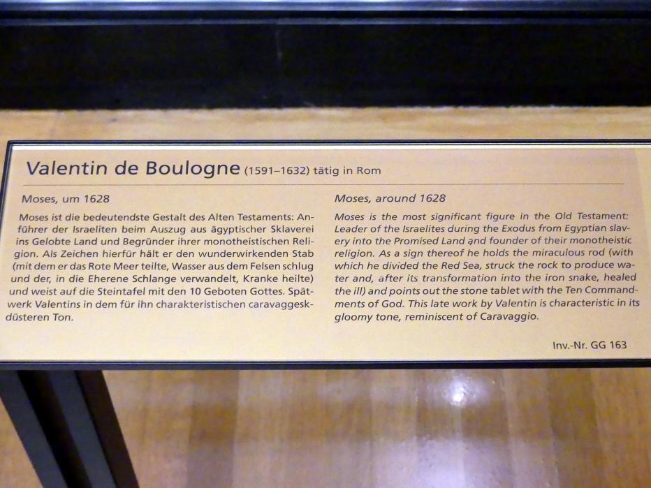 Valentin de Boulogne: Moses, um 1628, Bild 2/2