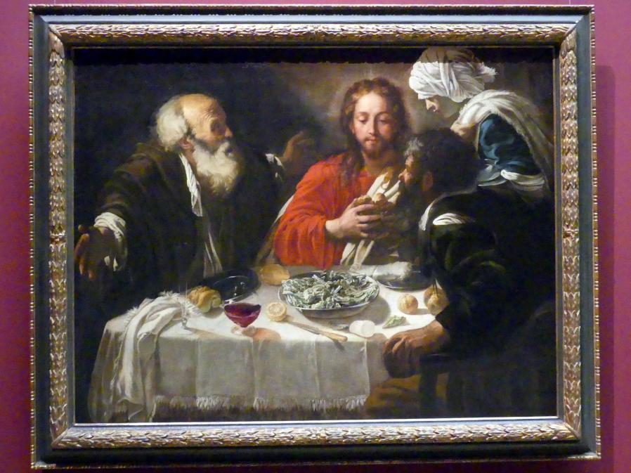 Michelangelo Merisi da Caravaggio (Nachfolger): Christus und die Jünger in Emmaus, Undatiert