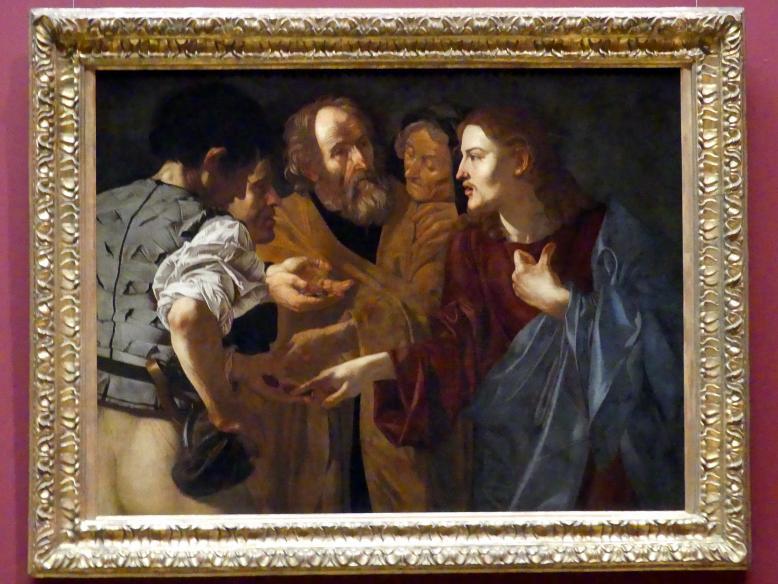 Cecco del Caravaggio (Francesco Boneri): Der Zinsgroschen, um 1615 - 1620, Bild 1/2