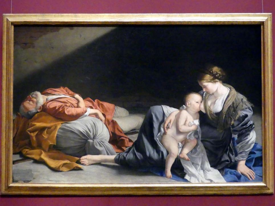 Orazio Gentileschi: Ruhe auf der Flucht nach Ägypten, um 1626 - 1628