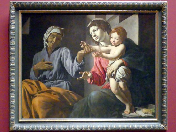Giovanni Battista Caracciolo (Battistello): Maria mit Kind und hl. Anna, Um 1633