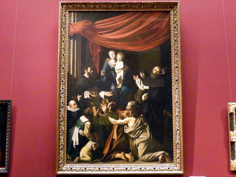 Michelangelo Merisi da Caravaggio: Rosenkranzmadonna, um 1601