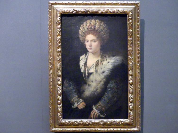 Tiziano Vecellio (Tizian): Isabella d'Este, um 1534 - 1536